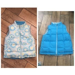 L.L.Bean vest kids size M 10/12 two way wear